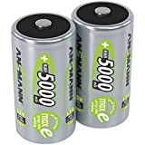 ANSMANN Akku D Mono 5000mAh 1,2V NiMH 2 Stück für Geräte mit hohem Stromverbrauch -...