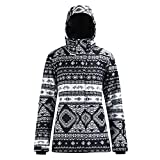 YOJOLO Skijacke Damen Snowboardjacke Winddicht Wasserdicht Warm Skibekleidung Bedruckter Isolierter...