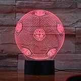 3D Nachtlicht Lampe Fußball Fußball Lampe Acryl 3D Illusion Led Lampe Bunte Berührung Nachtlicht...