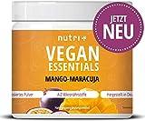VEGAN ESSENTIALS Mango-Maracuja - Complete Präparat 300g Vitamin Pulver für Veganer - Nutri-Plus...