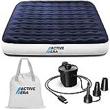 Active Era Luxus Camping Doppel Luftbett mit elekrischer Luftpumpe - Luftmatratze für 2 Personen...
