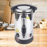5L Heißwasserspender Wasserkocher Glühweinkocher Einkochautomat aus Edelstahl Mit Wasserschale...