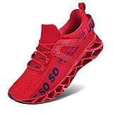 Vivay Damen Laufschuhe Walking Athletic fr Frauen Casual Slip Fashion Sports Outdoor-Schuhe, Rot ,...