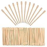 500 Packung Wachs Spatel Holz Handwerk Sticks Kleine für Haarentfernung Augenbrauen Wachs...