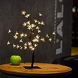 Starry Copper String Tree Lampe, LED Bonsai Tree Lights, 48 LED Kristallblumenlicht Firefly Lights...