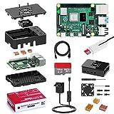 Bqeel Raspberry Pi 4 Model B 2 GB Ultimatives Kit mit Quad-Core ARM-Cortex-A72/ 64GB Class10 Micro...