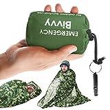 Idefair Notschlafsack mit Überlebenspfeife Wasserdichter Leichter Überlebensanzug Deckenbeutel mit...