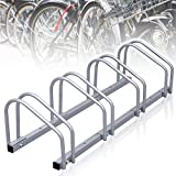 wolketon Fahrradständer, Aufstellständer für 4 Fahrräder, Fahrrad Ständer Boden Wand Montage...