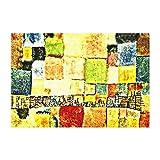 Lplpol Klee - Neuer Stadtteil in M Canvas Print for Wall Art Decoration Wooden Framed (8 X 10 Inch,...