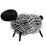 Sheepi - Das magnetische Broklammerspender Schaf - schwarz mit weien Broklammern - Der tierische...
