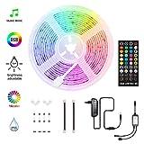 HoMii LED Streifen 5m - RGB LED Strips Sync mit Musik, IP65 Wasserdicht 150 LED 5050 SMD...