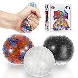 ZaxiDeel Antistressball Squeeze Balls 3X für Kinder und Erwachsene - Fidget Toy Stressball zum...