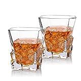 Cooko Iceberg Whisky Gläser, Kristallglas Whiskey karaffe, Wein Zubehör für Whiskey,Cocktail,...