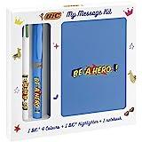 BIC My Message Kit Be a Hero – Schreibwaren-Set mit 1 Kugelschreiber BIC 4 Farben / 1 Textmarker...