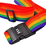Wimagic 1X Gepäckgürtel Koffergurte Packgurt, Regenbogenfarbe, Gepäckgepäckträger,...