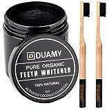 Aktivkohle Pulver Zähne Zahnaufhellung. 60 g Aktivkohlepulver zähne + 2 100% biologisch abbaubare,...