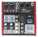 E-Lektron SE-4 Live Mischpult 2-Kanal Mixer + stereo USB/Bluetooth/Soundkarte, inkl. Phantom