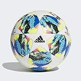 adidas Jungen Finale TT J290 Turnierbälle für Fußball, top:White/Bright Cyan/solar Yellow/Shock...