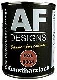 Alex Flittner Designs 1 Liter Kunstharz Lack Buntlack Kunstharzlack RAL8004 KUPFERBRAUN glnzend