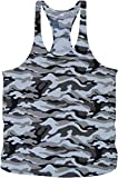 Bodybuilding Army Camouflage Stringer Tanktop Fitness Muskel Muscle Shirt Vest in 4 Farben (L, Snow...