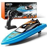 GizmoVine Ferngesteuertes Boot RC Boot 2,4GHz mit 2 Motoren Schnelle Geschwindigkeit Jungen und...