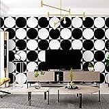 Schwarz-Wei-Tapete Geometrische Wohnzimmer Schlafzimmer Esszimmer Tapete Pvc10M * 0,53M