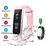 CHEREEKI Fitness Armband, Fitness Tracker Smartwatch Wasserdicht IP67 Aktivittstracker Schrittzhler...