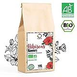 HIBISKUSTEE BIO 1kg Premiumqualität | Hibiskusblüten getrocknet für Tee, Früchtetee, Eistee,...