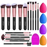 Pinselset Make up Pinsel Set mit 4 Beauty Schwamm und Bürste Wash Ei BESTOPE Pinsel Set 16 Stück...