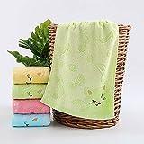 WDFB Bamboo Fiber Children's Household Soft Absorbent Face Towel Gift 25X50CM