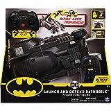 BATMAN 6055747 - Batman ferngesteuertes Batmobil mit Schleuderfunktion und exklusiver 10cm großer...