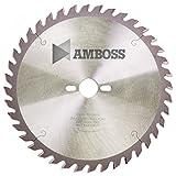 AMBOSS Werkzeuge - Hochwertiges Hartmetall Tischkreissägeblatt für Holz - Wechselzahn (80 Zähne)...