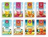 Teekanne frio 8er Pack - mit allen neuen Sorten - Eistee Pfirsich und Zitrone, Rhabarber-Kirsche,...