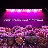 Uonlytech Led Wachsen Licht für Zimmerpflanzen, 2 Stücke Ac85-265V Vollspektrum Pflanzen Licht...