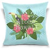 K.e.n Home Decor Kissenbezug mit Reißverschluss Tucan Mit Hawaii Aloha Throw Pillow Cover Cases...