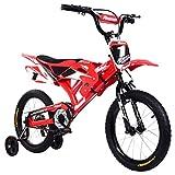 Kousa Fahrrad in Motorradform, 40,6 cm (16 Zoll), mit Schutzblechen und V-Bremse, für Kinder