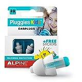 Alpine Pluggies Kinder Gehörschutz Ohrstöpsel - Ohrenstöpsel Für Kind und kleine Gehörgänge -...