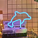 Uonlytech LED Neon Nachtlicht Delfine Geformte Leuchtreklamen Dekorative Neonlichter fr...