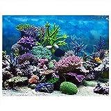 Fdit Aquarium Hintergrund Unterwasser Korallenriff Dekoration Selbstklebende Aufkleber, 91 * 41cm