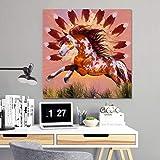 Moderne ungerahmte Leinwandbilder Home Wandkunst Bild Wasserdichte Tinte auf Handwerk Tierbild...
