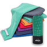 Mikrofaser Handtuch Set 'Brush' - Microfaser Handtücher mit Tasche für Sauna, Fitness, Sport I 1x...