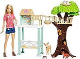 Barbie FCP78 - Tierarzt-Rettungsstation Puppe und Spielset mit Tieren und Zubehörteilen, Spielzeug...