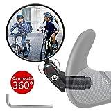 Vintoney Fahrradrückspiegel, 1 Stück universal verstellbar 360° Fahrradspiegel für 17,4-22 mm...