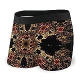 Nuwcense Herren-Boxershorts, enganliegend, schwarz, Kaleidoskop, leichte Unterhose, schnell...