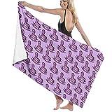 N/A violett violett Schaukelpferd Erwachsenen Mikrofaser-Strandtuch Übergröße 81,3 x 137,1 cm...