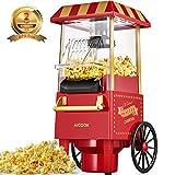 Popcornmaschine fr Zuhause, Aicook 1200W Retro Popcorn Maker Machine mit Heissluft, Popcornmaker...