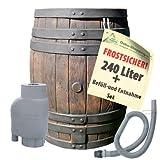 REGENTONNE EICHENFASS 240 Liter REGENFASS Wasserfass REGENWASSERTONNE Wassertonne - FROSTSICHERES...