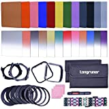 Longruner Complete 24 Pieces Square Filter Sets Filters Kit