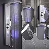 UYZ Duschpaneel, mehrere Modi , mit lila LEDs , 22 * 7 * 125 cm