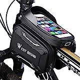 WESTGIRL Fahrrad Rahmentasche wasserdicht - Fahrradtasche Oberrohrtasche Handy Tasche geeignet für...